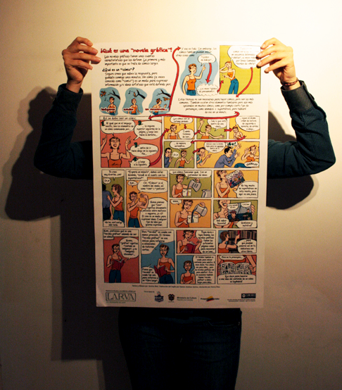 """¿Qué es una """"novela grafica""""? —What is a""""graphic novel""""? poster in spanish"""