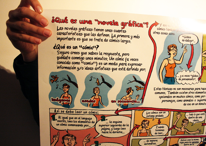 "¿Qué es una ""novela grafica""? —What is a""graphic novel""? poster in spanish detail view"