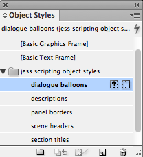 visual scripting 11 object styles menu