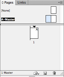 master pages. double click here, where it's blue.