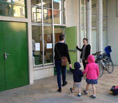 Arriving at preschool