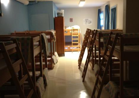 Nap room at preschool