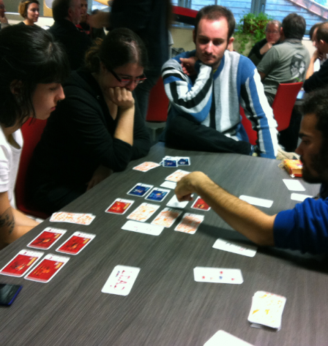 learning to play Jam, the Roller Derby card game