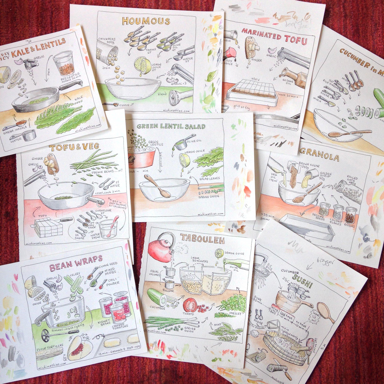 illustrated vegan recipes