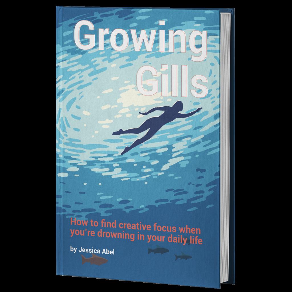 transparent sq growing gills hardcover mockup