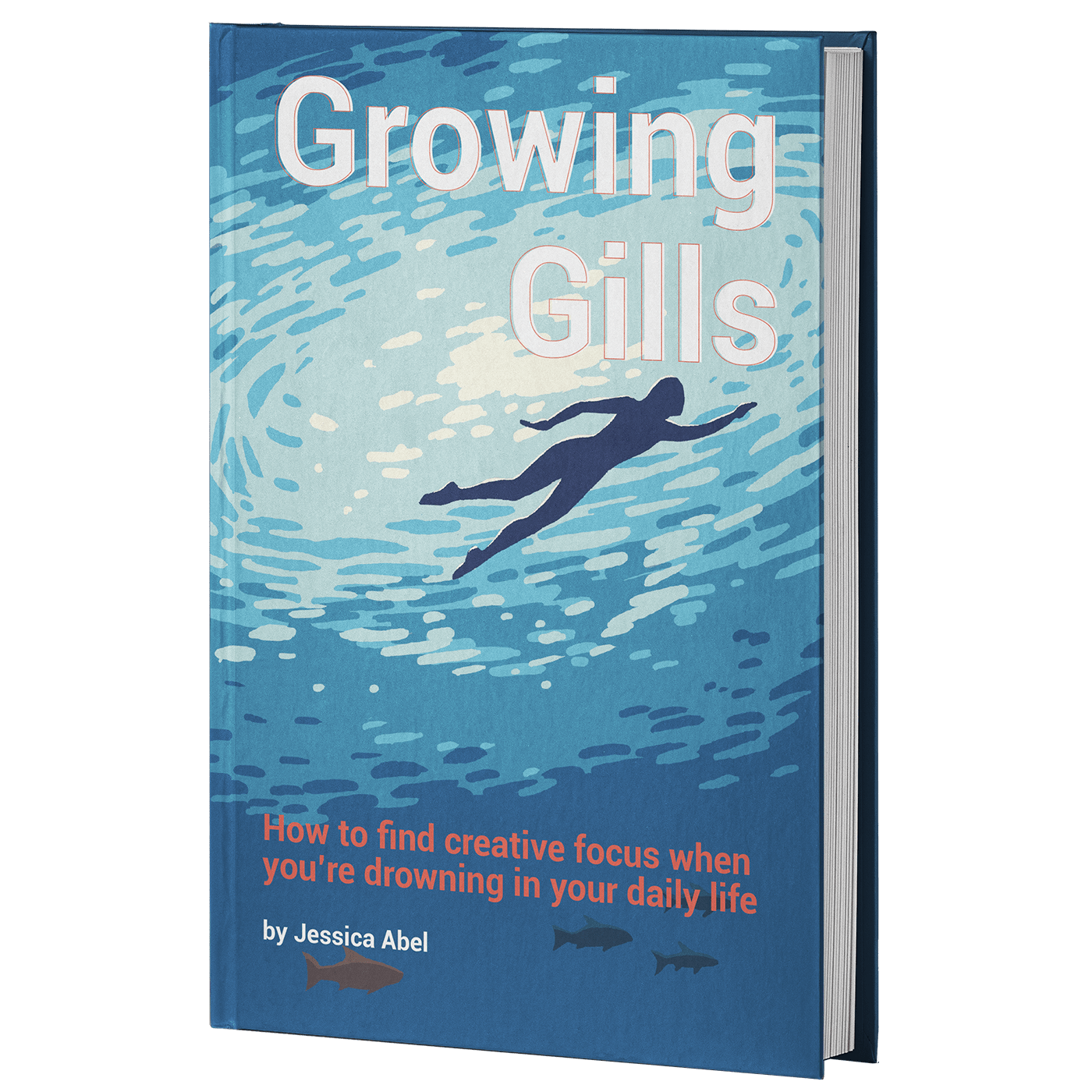 transparent sq growing gills hardcover mockup