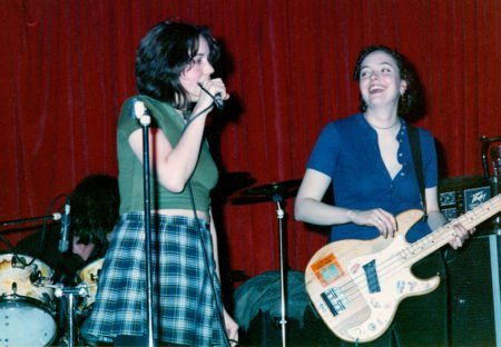 Bender 1994. Jessica Abel and Sharon Maloy. playing at Wild Cherry in Chicago.