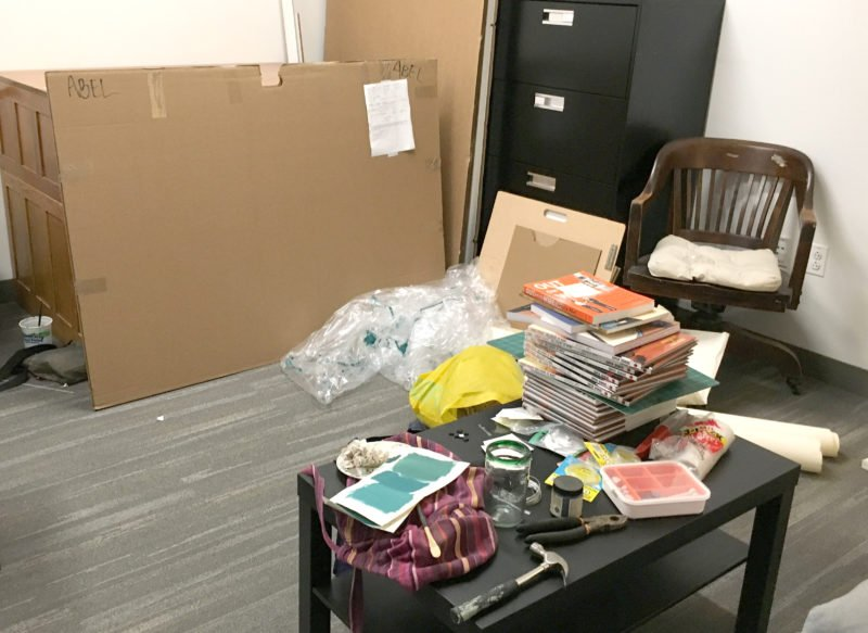 how to stop putting things off - a room taken over by framing project