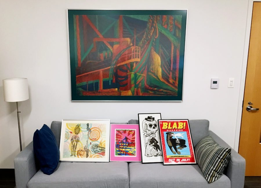 how to stop putting things off - finished framing project in all of its glory