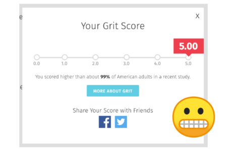 my grit score is 5. making real change